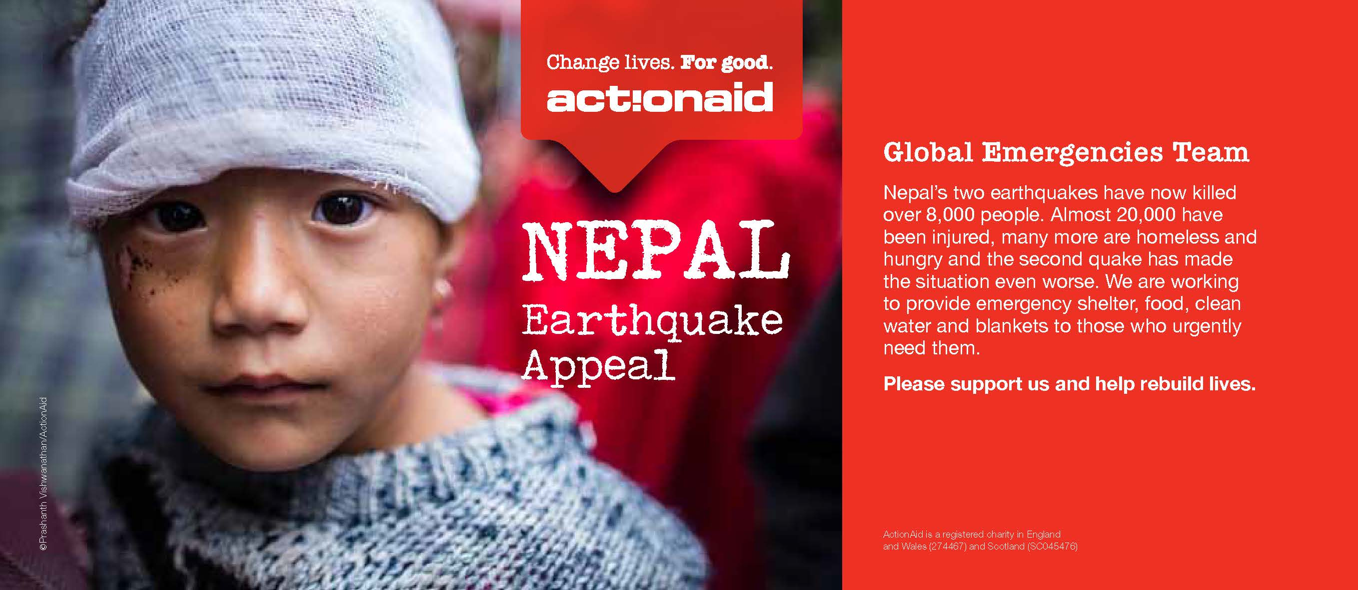 Action Aid UK - Nepal Earthquake Fundraising Appeal